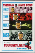 """Movie Posters:Action, You Only Live Twice (United Artists, 1967). Advance One Sheet (27"""" X 41""""). In this entry in the James Bond series, an Americ..."""
