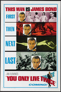 """You Only Live Twice (United Artists, 1967). Advance One Sheet (27"""" X 41""""). In this entry in the James Bond ser..."""