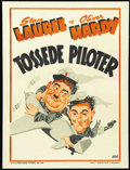 """Movie Posters:Comedy, The Flying Deuces (RKO, 1939). Danish Poster (25"""" X 33""""). One of Laurel and Hardy's best films, """"The Flying Deuces"""" follows ..."""