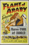 "Flame of Araby (Universal International, 1951). One Sheet (27"" X 41""). Very Irish (and pale) Maureen O'Hara ha..."