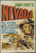 """Movie Posters:Western, Nevada (RKO, 1944). One Sheet (27"""" X 41""""). Robert Mitchum and Bert Moorhouse star in this remake of the 1927 Western about a..."""