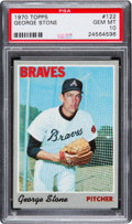 Baseball Cards:Singles (1970-Now), 1970 Topps George Stone #122 PSA Gem Mint 10 - Pop One-of-One! ...