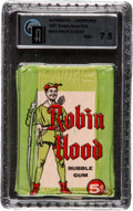 "Non-Sport Cards:Unopened Packs/Display Boxes, 1957 Topps ""Robin Hood"" 5-cent Wax pack GAI NM+ 7.5. ..."