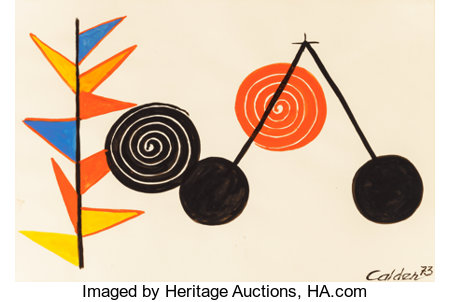Alexander Calder (1898-1976)Balancier, 1973Gouache and ink on paper29 x 42-1/2 inches (73.7 x 108.0 cm)Signed an...