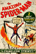 Books:Comics - Silver Age, [Featured Lot]. [Comic Books]. The Amazing Spider-Man #1.(Marvel, 1963)....