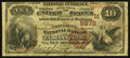 National Bank Notes:Indiana, Indianapolis, IN - $10 1882 Brown Back Fr. 490 The American NB Ch. # (M)5672. ...
