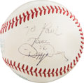 Autographs:Bats, Circa 1970 Dizzy Dean Single Signed Baseball....