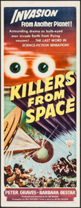 "Movie Posters:Science Fiction, Killers from Space (RKO, 1954). Insert (14"" X 36""). ScienceFiction.. ..."