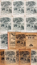 Books:Americana & American History, [Almanacs]. Group of Fifteen Almanacs, 1950 - 1967. . ...