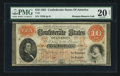 Confederate Notes:1861 Issues, T24 $10 1861 PF-6 Cr. 160.. ...