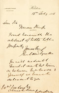 Autographs:Non-American, J. Walker Tyacke, Autograph Signed Letter Regarding an Abstract ofTitle. Dated February 16th, 1885. ...