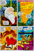 Memorabilia:Comic-Related, Jack Kirby and Vince Colletta Thor #163 Page 6 Color Guide(Marvel, 1969)....