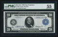 Fr. 1008 $20 1914 Federal Reserve Note PMG About Uncirculated 55