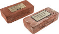 Baseball Collectibles:Others, 1990's Memorial Park & Camden Yards Bricks from The Brooks Robinson Collection. ...