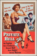 "Movie Posters:Crime, Private Hell 36 (Filmakers Releasing Organization, 1954). One Sheet(27"" X 41""). Crime.. ..."