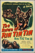 "Movie Posters:Adventure, The Return of Rin Tin Tin (PRC, 1947). One Sheet (27"" X 41"").Adventure.. ..."