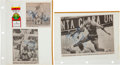 Basketball Collectibles:Photos, 1990 Hank Gathers Signed Newspaper Clippings (2) and More....