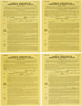 Baseball Collectibles:Others, 1958-59 Signed Pacific Coast Minor League Player Contracts Lot of4....