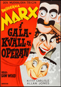 """Movie Posters:Comedy, A Night at the Opera (Sergelfilm, R-1972). Swedish One Sheet (27.5""""X 39.25""""). Comedy.. ..."""
