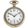 Timepieces:Pocket (post 1900), Hamilton 23 Jewel 18 Size Sterling Silver Pocket Watch. ...