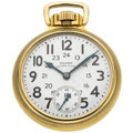 Timepieces:Pocket (post 1900), Waltham 23 Jewel 24-Hour Vanguard Pocket Watch. ...