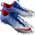 Football Collectibles:Others, 2014 Odell Beckham Jr. Practice Worn, Signed New York Giants Cleats....