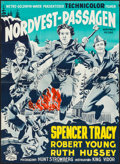 "Movie Posters:Action, Northwest Passage (MGM, R-1954). Danish Poster (24.5"" X 33.25"").Action.. ..."