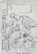 Original Comic Art:Covers, John Romita Sr. Incredible Hulk #359 Unused CoverPreliminary Sketch Original Art (Marvel, 1989)....