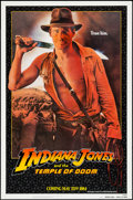 "Movie Posters:Adventure, Indiana Jones and the Temple of Doom (Paramount, 1984). One Sheet(27"" X 41"") Advance - White Border Style. Adventure.. ..."