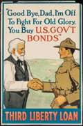 "Movie Posters:War, World War I Propaganda (U.S. Government Printing Office, 1918).Trimmed Third Liberty Loan Poster (19"" X 29""). War.. ..."