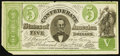 Confederate Notes:1861 Issues, CT33/250C Counterfeit $5 1861.. ...