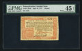 Colonial Notes:Pennsylvania, Pennsylvania April 10, 1777 £4 PMG Choice Extremely Fine 45 Net.....