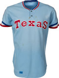 Baseball Collectibles:Uniforms, 1980 Fergie Jenkins Game Worn Texas Rangers Jersey with Jenkins Signed Letter. ...