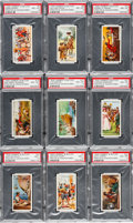 Non-Sport Cards:Sets, 1926 Lambert & Butler Pirates and Highwaymen Complete Set (25)- #4 on the PSA Set Registry. ...