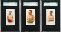 Boxing Cards:General, 1888 N28 Allen & Ginter Boxers/Wrestlers SGC 88 NM/MT Trio (3)....