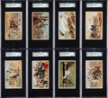 Non-Sport Cards:Sets, 1887 N99 W. Duke, Sons & Co. Battle Scenes Complete Set (25)....