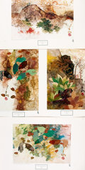 Books:Prints & Leaves, Tseng-Ying Pang, American/Chinese painter (1916 - 1997). Group ofFour Color Prints after Designs by Pang. Anaheim, CA: Hadd...