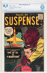 Tales of Suspense #4 (Marvel, 1959) CBCS VF+ 8.5 White pages