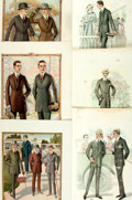 Books:Prints & Leaves, [Men's Fashion, 1920s]. Group of Twenty-Eight Color PlatesDepicting Men's Fashion Styles in the Nineteen Twenties. The ...