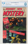Silver Age (1956-1969):Horror, Journey Into Mystery #75 (Marvel, 1961) CBCS VF- 7.5 Whitepages....