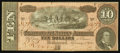 Confederate Notes:1864 Issues, T68 $10 1864 PF-45 Cr. UNL.. ...