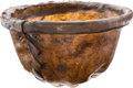 "Edged Weapons:Other Edged Weapons, Hand-Made Buffalo- Hide ""tongue pail,"" ..."
