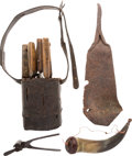 Edged Weapons:Other Edged Weapons, A Rough-and-Ready Buffalo Runner's Outfit, 1860s - 1870s....(Total: 2 )