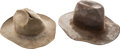 Western Expansion:Cowboy, Two Genuine Western Hats... (Total: 2 Items)