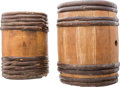 Arms Accessories:Tools, A Handsome Pair of Powder Kegs. ... (Total: 2 )
