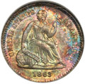 Seated Half Dimes, 1863 H10C MS68 NGC. CAC. V-1....
