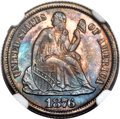 Seated Dimes, 1876-CC 10C -- Artificial Toning -- NGC Details. Unc. Fortin-Unlisted....