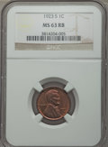 Lincoln Cents: , 1923-S 1C MS63 Red and Brown NGC. NGC Census: (47/76). PCGS Population (109/170). Mintage: 8,700,000. Numismedia Wsl. Price...
