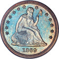 Proof Seated Quarters, 1869 25C PR67 NGC. CAC. Briggs 2-B....