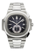 Timepieces:Wristwatch, Patek Philippe Ref. 5980/1A-001 Very Fine Nautilus Chronograph,circa 2007. ...